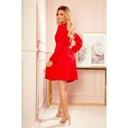 BINDY Feminine dress with a neckline - red (339-1)