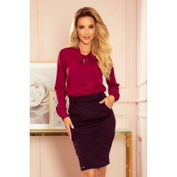 Blouse with bond - burgundy color (140-12)