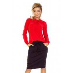 Blouse with bond - red (140-3)