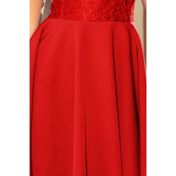 Dress MARTA with lace - red (157-8)