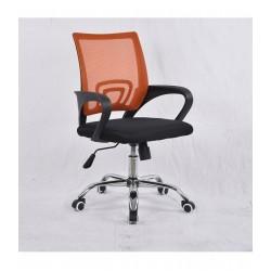 Swivel office chair VANGALOO DM8136, black with orange back (2943773496992)
