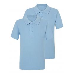 Light Blue School Polo Shirt 2 Pack (C0002)