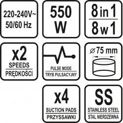 Food processor 8in1, 550W (67950)