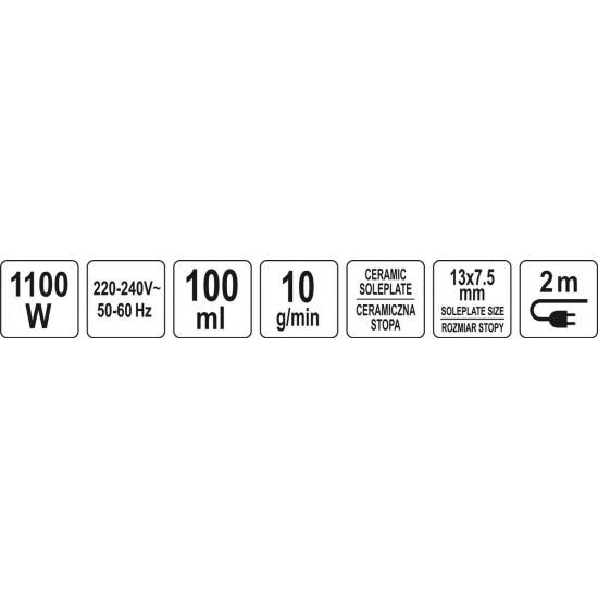 Clothes steamer 3 in 1 | ceramics / metal 1100 W (68090)