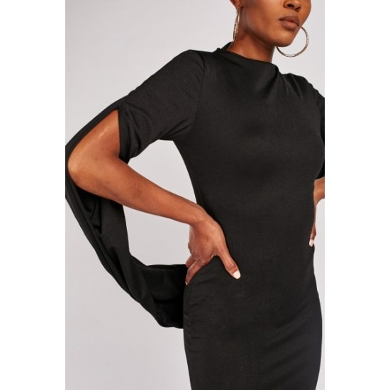 Contrasted Bodycon Dress (С0014)