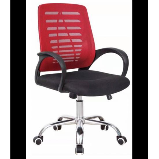 Swivel office chair VANGALOO DM8101, red / black (7598500523769)