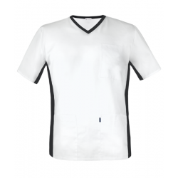Men's medical shirt with elastic band on the side (MBE1-B)