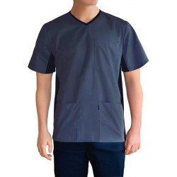 Men's medical shirt with elastic band on the side (MBE1-SN)