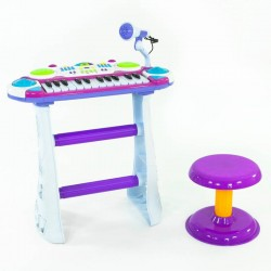 Children's piano-synthesizer with microphone and chair B15 (R10)