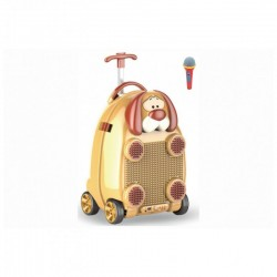 Children's suitcase - pad with microphone, wheels and handle (R24)
