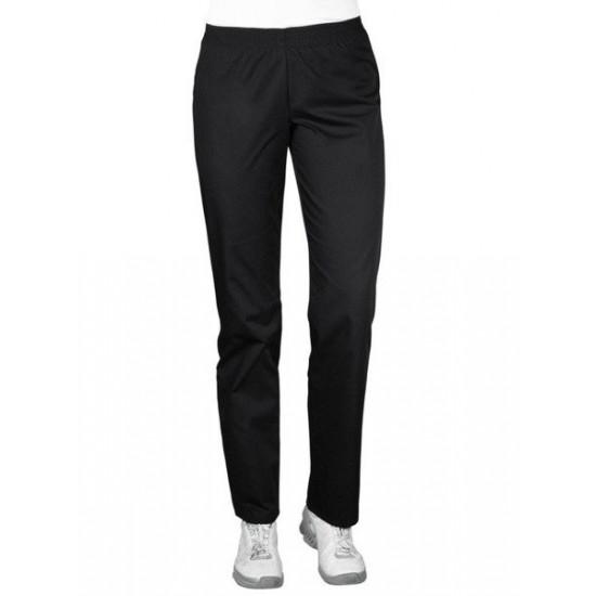 Women's Medical Pants with Elastic Waist, Black (SC4-C)