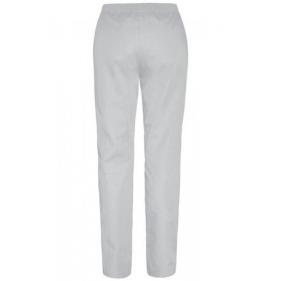 Medical trousers for women with elastic waist, light gray (SC4-JS)