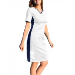Medical dress with ELASTIC ribbed sides (SKE1-B)