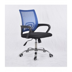 Swivel office chair VANGALOO DM8136, black with blue back (7577704066272)