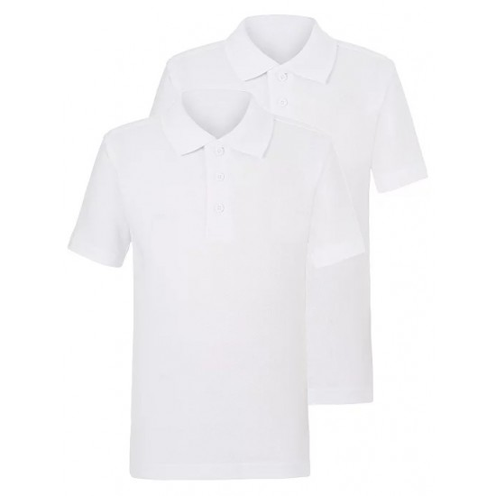 White School Polo Shirt 2 Pack (B0020)