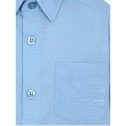Boys Light Blue Slim Fit Short Sleeve School Shirt 2 Pack (B0090)