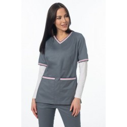Medical blouse, gray (BE5-S2)