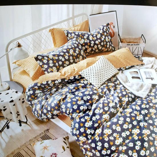 Bed linen set 4 parts 100% cotton (160x200) (GUL1029)