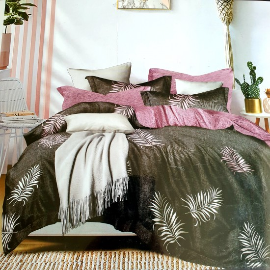 Bed linen set 4 parts 100% cotton (160x200) (GUL1028)