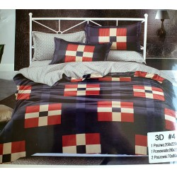 Bed linen 4 parts 3D, double sided (200X220) (GUL1030)