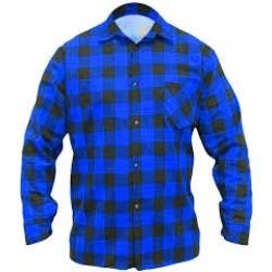 Flannel shirt blue, 100% cotton (BH51F2)