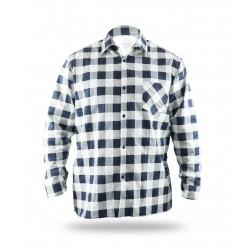 Flannel shirt dark blue-white, 100% cotton (BH51F3)