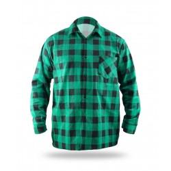 Flannel shirt green, 100% cotton (BH51F4)